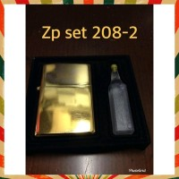 Keren Zippo Gold Berdenting Kw Super Zp Set 2082 Minyak Lighter Korek