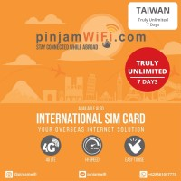 Sim Card Taiwan Truly Unlimited 7 Days | Simcard Taiwan