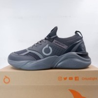 Sepatu Lari/Running Ortuseight Santana Heather Gray Black 11030053 Ori