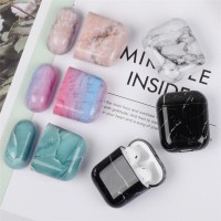MARBLE CASING AIRPODS HARD CASE MARMER APPLE AIRPODS 1 2 TWS i18 i12