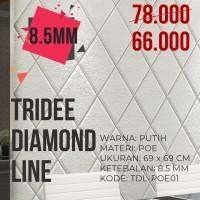 Wallpaper Foam 3D Motif Ketupat Putih  TRIDEE DIAMOND LINE