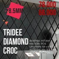 Wallpaper Foam 3D Motif Ketupat Hitam  TRIDEE DIAMOND CROC