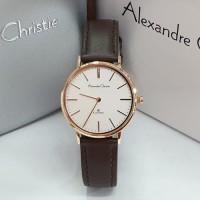 ALEXANDRE CHRISTIE AC 8625 ROSEGOLD BROWN DIAL WHITE WANITA. ORIGINAL