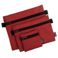 KEE Pouch Set Travel Organizer Mono Edition Maroon