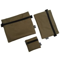 KEE Pouch Set Travel Organizer Mono Edition Green