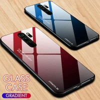 Redmi Note 8 PRO Luxury Gradient Tempered Glass case casing soft case