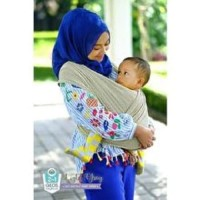 Geos Gendongan Kaos Bayiku.id 2in1 Instant Baby Wrap - XL ⠀⠀⠀