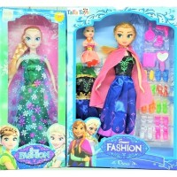 Mainan Boneka Disney Frozen Fever New Princess Elsa & Anna (1 Set)