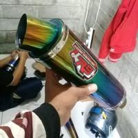 Knalpot racing R9 Mugello Rainbow Pelangi