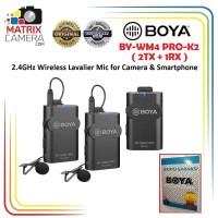 BOYA BY-WM4 Pro K2 Wireless Mic Microphone for Camera & Smartphone