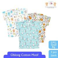 LIBBY Oblong Cotton Motif Avocado mix ( 3pcs/set )
