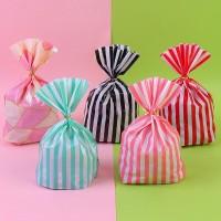 plastik packing kue  cookies  Snack lucu kekinian motif garis warna