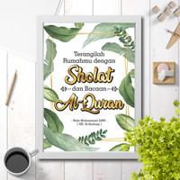 Hiasan dinding poster wall decor dekorasi rumah islam Sholat & Quran 1