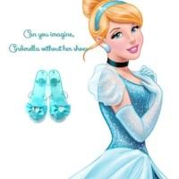sepatu kostum cinderella dengan led