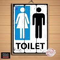 toilet | pajangan dinding |poster | kayu | hiasan | wall decor