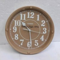 Jam Dinding Casio IQ-62 Wall Clock Casio IQ 62 Original 100% (Coklat)