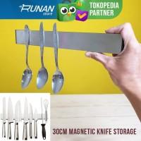 Rak Pisau Magnet Knife Rack Storage Magnetic Rak Dapur 30cm