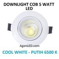 Lampu Downlight LED Spot sorot 5W Cool White 5 w watt PUTIH COB 5watt