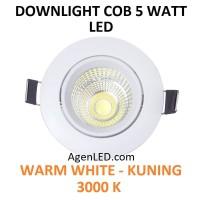 Lampu Downlight LED Spot sorot 5W Warm White 5 w watt KUNING COB 5watt