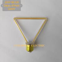 LED Filamen 4watt Edison Bulb E27 Lampu cafe dekorasi model segitiga