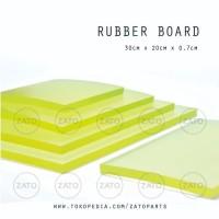 Rubber Board YELLOW 30x20x0.7