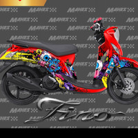 sticker decal yamaha mio fino Zombie 1