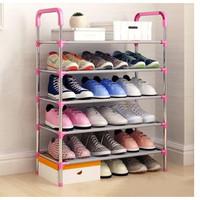rak sepatu 5 susun payung holder lemari sepatu - Pink