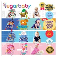 Sugar Baby NEW 10in1 Premium Rocker Bouncer 4 MOTIF - 10 in 1 Rocker B