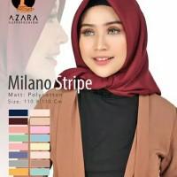 GROSIR [10PCS] Jilbab Segi empat Milano Stripe Polycotton Azara Square