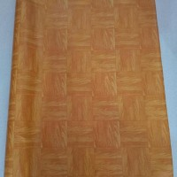 Karpet Plastik Vinyl untuk Lantai/Alas taplak meja Urat Kayu per Roll
