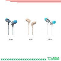 Honor am12 Earphone In-Ear 3.5mm 4Pin dengan Mic untuk Huawei