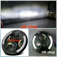 Lampu led projector daymaker Angel eye Hi lo 7 inch 35w jeep Harley Da
