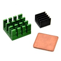 Sos 3 x Aluminum Heat Sink Kit With Copper For Raspberry Pi 2