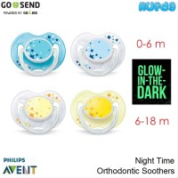 Philips Avent Night Time Orthodontic Soothers Pacifier Empeng