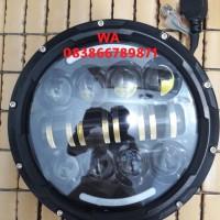 Lampu motor 7inch 40w led Daymaker Headlight 7 Inch Hi Lo Led Fog Lamp