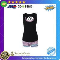 Bikini Baju Renang Wanita Sport Bathing Swimsuit (TankTop Baju Celana)