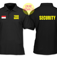 Polo Shirt Harga Promo Kaos Kerah Security Custom Black 1507 - Dea
