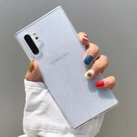 Casing Samsung S10 Plus Transparent Gradient Glitter Soft Case - Transparan