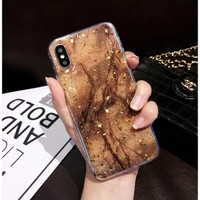 Casing Samsung A30S - A50 - A50S Glitter Marble Soft Case