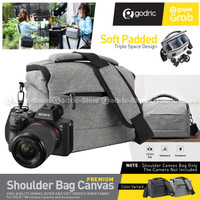 Tas Kamera Bag DSLR Case Mirrorless Canon Fuji Sony Kanvas Nilon 1903