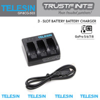 TELESIN Battery Charger for GoPro 8/7/6/5 Charger Baterai
