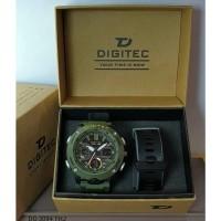 Jam Tangan Pria DIGITEC Analog Digital Tali Karet DG-3094 Original