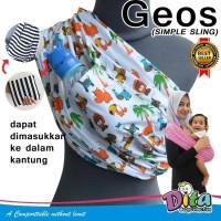 GEOS MOTIF - Gendongan Kaos DITA / Gendongan Bayi / Baby Sling