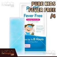 Pure Kids Fever Free / Plester Penurun Panas Isi 4 Pcs (Box)