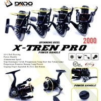 Reel ORI DAIDO X-TREN PRO 2000 (12+1BB) POWER HANDLE. JAPAN