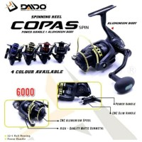 Reel Daido COPAS 6000 (12+1 BB) POWER HANDLE BODY METAL. RECOMMENDED