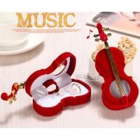 necklace box kotak gift kado kawin nikah kalung cincin violin biola