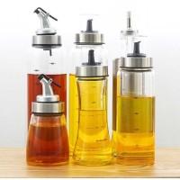 Botol Kaca Minyak Olive Oil Sirup Kecap Saos 180ml wadah bumbu masak