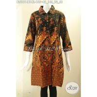 Blouse Batik Elegan & Berkelas Model Krah Lengan 7/8 Size XL BLS9614BT