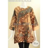 Jual Atasan Batik Wanita Model A Lengan 7/8 Istimewa Size XL BLS9602PB